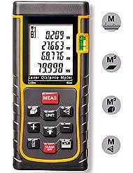 PINWHEEL Laser Mesure Distance Mètre Télémètre Portable Tape Mesure Outil Finder Avec Niveau à Bulle et Affichage Numérique
