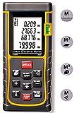 PINWHEEL Distanza Misuratore 80m/ 262Piedi Handheld Portatile Misura Tester Range Finder con Grande LCD Retroilluminato Lunghezza Area Volume Telemetro Pitagora di Calcolo con M/Pollici/Piedi immagine