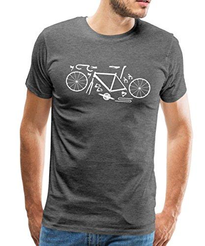 Spreadshirt Rennrad Kit Fahrrad Bike Komponenten Männer Premium T-Shirt, XL, Anthrazit