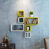 DecorNation Wall Shelf Set of Six Cube R...