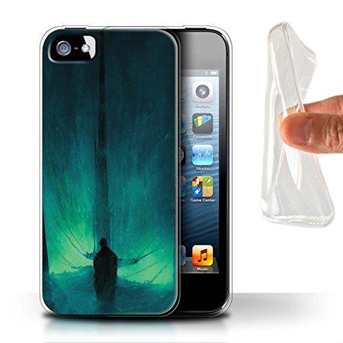 Offiziell Chris Cold Hülle / Gel TPU Case für Apple iPhone SE / Pack 10pcs Muster / Dunkle Kunst Dämon Kollektion Bösen Herzens