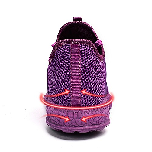 ZOCAVIA Scarpe da Corsa Atletiche Sneakers Donna Sportivo in Moda Scarpe Elegante da Ginnastica Viola