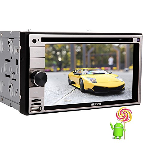 EinCar 6,2 Zoll Android 5.1.1 Betriebssystem Quad Core Double 2 L?rm-Auto-Stereo-DVD CD-Player im Dash-Touch Screen GPS Head Unit Autoradio-Empf?nger mit Navigations Wifi Spiegel Link-SW-Control