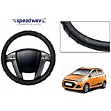 Speedwav Grippy SC106S Leatherette Car Steering Cover Black S-Hyundai Grand i10