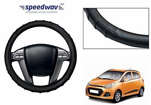 speedwav grippy sc106s leatherette car steering cover black s-hyundai grand i10 Speedwav Grippy SC106S Leatherette Car Steering Cover Black S-Hyundai Grand i10 51htTXqDYzL