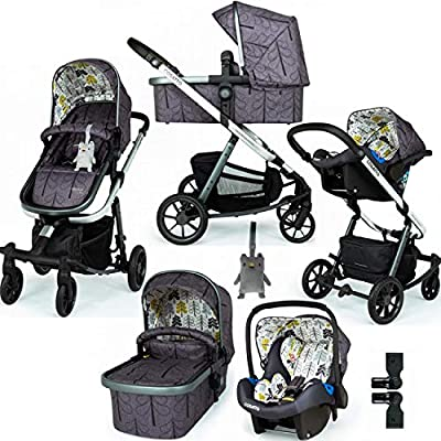 Cosatto Giggle Quad Travel System Fika Forest with Car Seat and Raincover