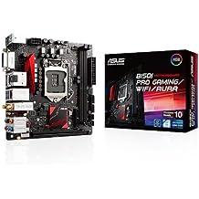 ASUS B150I Pro Gaming/WiFi/Aura - Placa base Mini-ITX (2 x DIMM, DDR4 2133 MHz, 4 x SATA 6 GB/s, 4 x PCIe 3.0, iluminación RGB Aura, 2 x 2 banda dual WiFi)