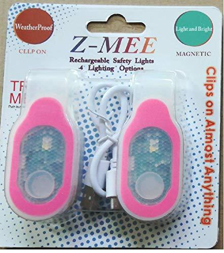 Z-Mee LED-Lichter, wiederaufladbar, USB-Clip, magnetisch, für Walking, Joggen, Laufen, Radfahren, Wandern, Klettern, Camping, Sport, Auto, Indoor Outdoor, Rose
