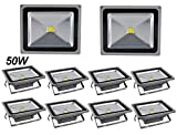 10X 50W en économisant l'energie Projecteur LED Lights Extérieur / Intérieur Spot Light, 85-265V IP65 Lampes extérieure, blanc froid