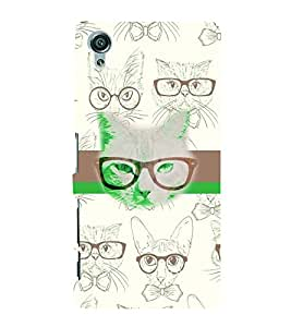 PrintVisa Animal Wild Cats 3D Hard Polycarbonate Designer Back Case Cover for Sony Xperia X