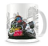 KOOLART Cartoon Caricature of Superbikes Aprillia Troy Corser W.S.B. - Coffee Mug