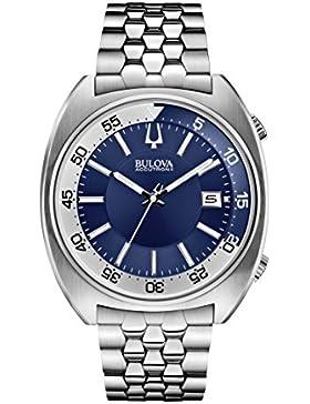 Bulova unisex-Armbanduhr Snorkel Analog Quarz Edelstahl 96B209