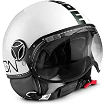 MOMO Design Casco Classic blanco brillante – negro, ...