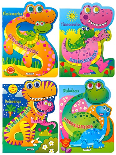 Mis dinosaurios con pegatinas (4 títulos) por Susaeta Ediciones S A