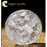 Craft Crown Water Fountain Spinning Crystal Glass Ball, (Pack of 1)