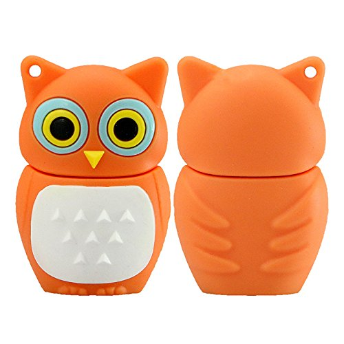 Niedlich Mini Orange Eule Tier Modell USB 2.0 Flash Drive U Festplatte Memory Stick 32 GB