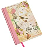 Girls Vintage Bird Cage Shabby Chic Style A5 Hard Cover Notebook Gift School