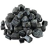 Shanxing Schwarzer Turmalin Rohsteine Edelsteine Wassersteine Dekoration Stein für Reiki Kristall Heilung ca.25-35mm,460 Gramm
