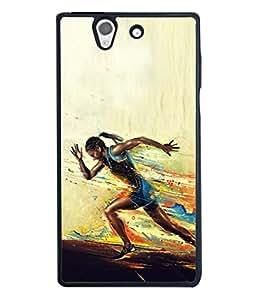 PrintVisa Runner In Action High Gloss Designer Back Case Cover for Sony Xperia Z :: Sony Xperia ZC6603 :: Sony Xperia Z L36h C6602 :: Sony Xperia Z LTE, Sony Xperia Z HSPA+
