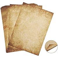 60 hojas Papel con diseño de papel antiguo Carta Pergamino Vintage Din A4 100g/m² Absofine DIY