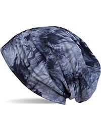 styleBREAKER Beanie Mütze mit Batik Muster, Vintage washed Look, Slouch Longbeanie, Unisex 04024081