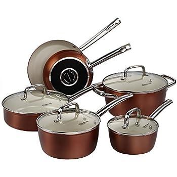 po les anti adh sives koly casseroles po le anti adh rent au cuivre avec rev tement en. Black Bedroom Furniture Sets. Home Design Ideas