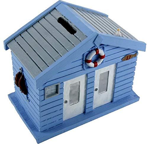 Home Collection Hogar Decoración Accesorios Regalos Hucha en Forma de Casa Azul 15 x 9 x 13 cm