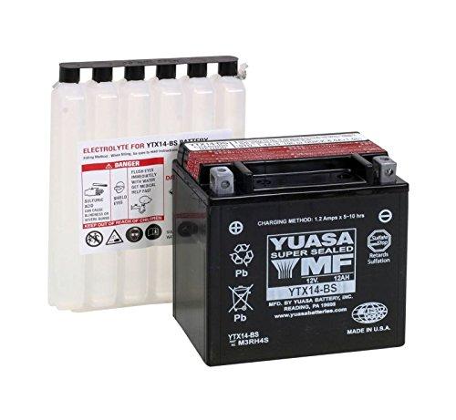 YUASA-Batterie YAMAHA 1000ccm Apex Baujahr 2006-2013 (YTX14-BS) (Apex-batterie)