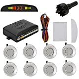 TKOOFN Car Parking Reverse Reversing Backup Radar System with 8 Parking Sensor Front