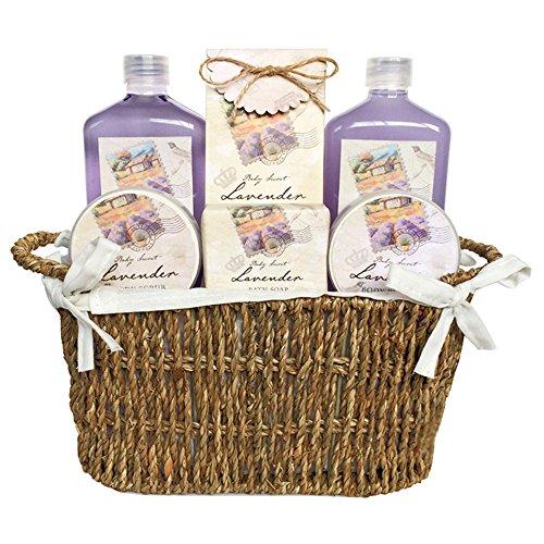 gloss-cestino-regalo-con-prodotti-per-il-bagno-les-belles-fleurs-aroma-lavanda-6-pz