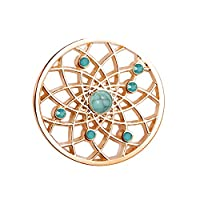 U&D Women�??s Pendants 25mm Coin Rosegold Plated For Interchangeable Coin Pendant Necklace