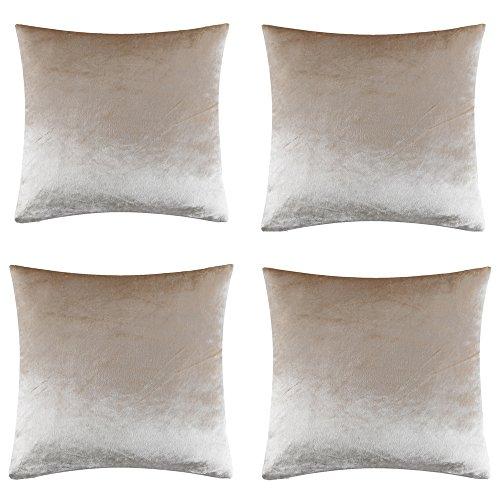 Lusso colore solido di alta qualità josca shinny morbido velluto arredamento copridivano federa cuscino per divano cuscino copre disponibile in argento dorato blu colore rosso e 2dimensioni, velluto, champagne*4, 45 cm x 45 cm