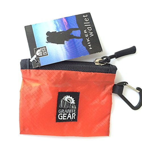 GRANITE GEAR Wandertasche Air Style, Herren, Air Style Hiker Wallet, Orange, One Size (Gear Wallet)