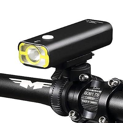 Fahrradbeleuchtung, Fozela Wasserdichte USB Wiederaufladbare, 5 Licht-Modi, Superhelle Fahrrad Lampen beleuchtung fahrradlicht frontlicht für alle Räder, Professioneller Halter inclusive(Black, 200LM)