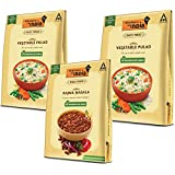 Kitchens of India Combo Pack - Rajma Masala 285g and Vegetable Pulao Pack of 2 x 250g