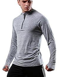 FELiCON Sudadera con Capucha y Cremallera de Manga Larga para Hombres Camiseta Sudadera con Capucha y