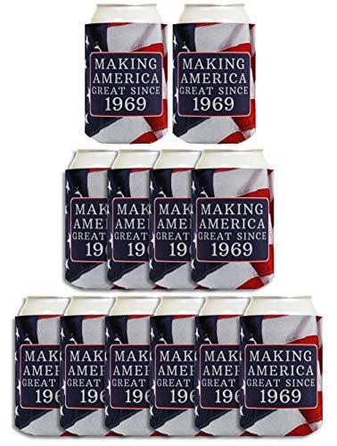 Geschenk zum 50. Geburtstag So Amerika Großartiges seit 1967Können Coolie Drink Coolers Coolies usa-flagge