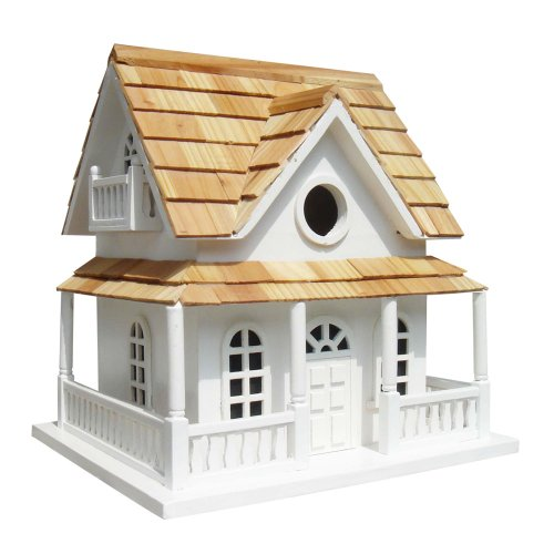 Vogelhaus, Nistkasten weißes Hobbit-Haus, von Garden Bazaar - HB-2022W (Reinigung Chicken House)