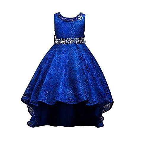 ESHOO Girl's Formal Party Dress Lace Trailing Princess Dress