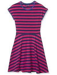 Tommy Hilfiger Mädchen Kleid Girls Stripe Knit Dress S/S