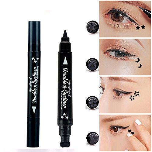 Pinkiou 1x Eyeliner Bleistift Pen mit Augen Make-up Stempel Wasserdicht doppelseitig lang anhaltende...
