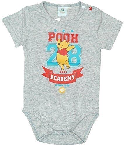 d Disney Winnie the Pooh Tigger Body Strampler größen von 3 bis 24 Monate - Grau, 62 (Winnie The Pooh Baby-outfit)