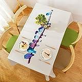 BUUYI Manteles Mesas de comedor Decoración Estilo sencillo aves 140x140cm Boda hotel restaurante Moderno sencillo