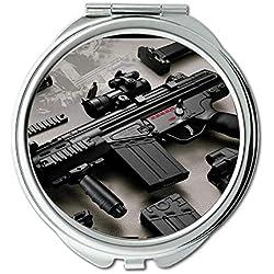 Miroir, Compact Mirror, autocollants pistolet, miroir rond, pistolet hd s, miroir de poche, miroir portable