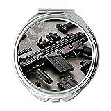 Yanteng Spiegel, Compact Mirror, Pistole Aufkleber, Runde Spiegel, HD-Pistole s P, Taschenspiegel, Tragbare Spiegel