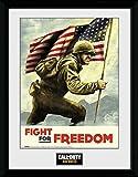 1art1 108385 Call of Duty - WWII Fight for Freedom Gerahmtes Poster Für Fans Und Sammler 40 x 30 cm
