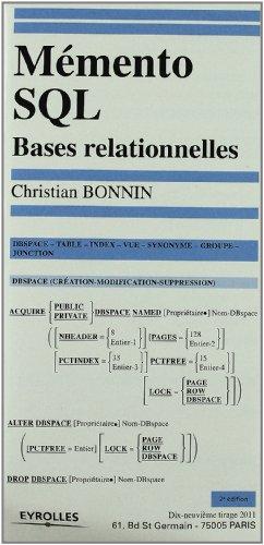 Mémento s q l par Christian Bonnin, Bonnin