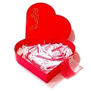 Love-Heart Love Heart Boîte cœur à mots doux avec 365 billets pour une année-