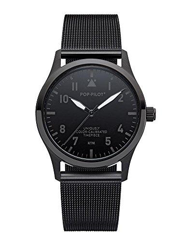 POP-PILOT® Modell KTM I schwarze Fliegeruhr Uhr