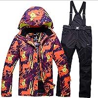 Jiuyizhe Chaqueta de esquí de Snowboard Transpirable para Hombres y Mujeres (Color : 05, Size : XL)
